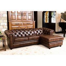 Barcelona Leather 2-Piece Sectional Sofa
