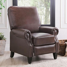 Braxton Leather Pushback Recliner