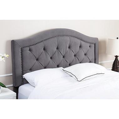 Sullivan Velvet Upholstered Headboard Grey Assorted