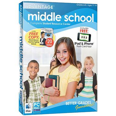 Advantage 2012 Middle School with Mavis Beacon Deluxe - PC/Mac