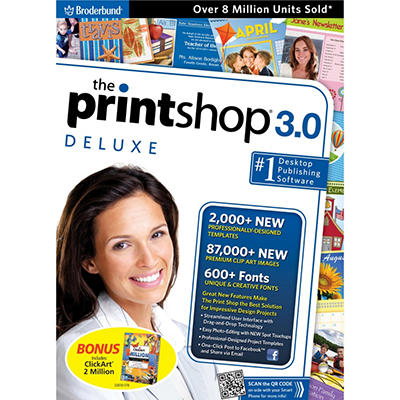 Encore - The Print Shop® 3.0 Deluxe with ClickArt 2 Million - PC