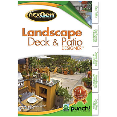 Punch! Landscape Deck & Patio Designer - PC