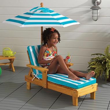 Kidkraft Outdoor Chaise With Umbrella Sam S Club
