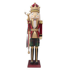 3.5' Wooden Nutcracker - Traditional Red and Gold