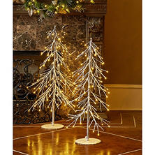 2-PC Pre-lit LED Tree Set