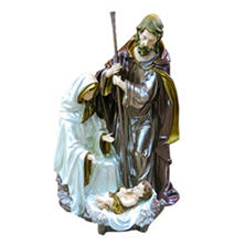 "Holiday Time 30.5"" Traditional Hand-Painted Holy Family Statue"