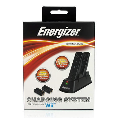 Energizer 2X Conductive Charger for the Wii