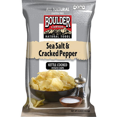 Boulder Canyon Sea Salt & Cracked Pepper Potato Chips (21 oz.)