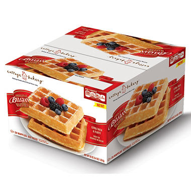 Cottage Bakery Original Belgian Waffles - 24 ct.