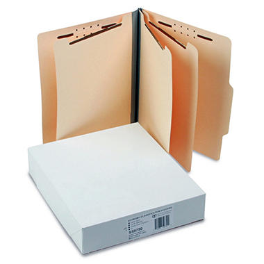 S J Paper - Economy Manila Classification Folders, Letter, Eight-Section - 15 Pack