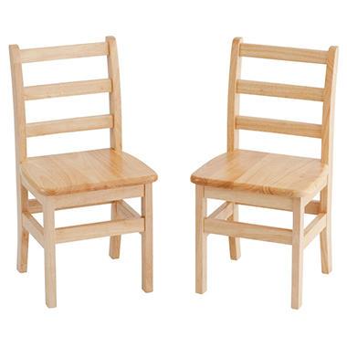 Hardwood Ladderback Chairs - 2 pk. - Various Sizes
