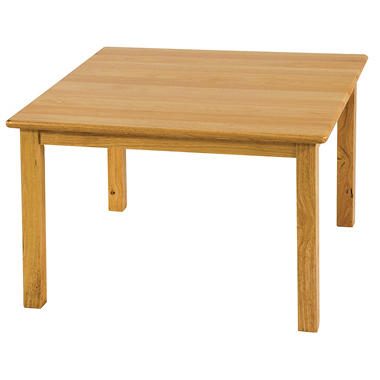 Square Hardwood Table - 24""