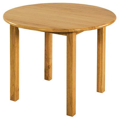 "ECR4Kids 30"" Round Hardwood Table, Select Type"