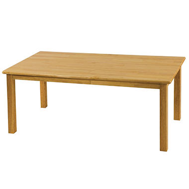 "Rectangular Hardwood Table - 24"" x 48"""