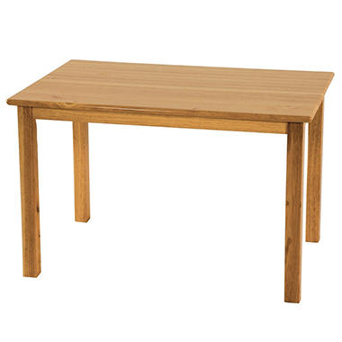 "24"" x 36""  Rectangular Hardwood Table w/ 22"" legs"