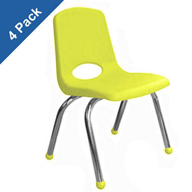 "18""  Adult School Stack Chair - 4 Pack - Various Colors"