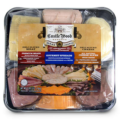 Castle Wood  Meat & Cheese Party Tray - 3.65 lbs.