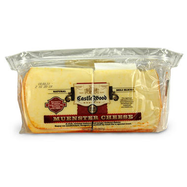 Castle Wood Muenster Cheese Slices - 2 lbs.