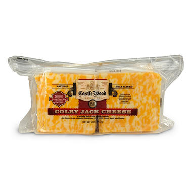Castle Wood Colby Jack Cheese Slices - 2 lbs.