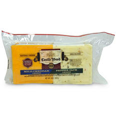 Castle Wood Reserve Mild Cheddar and Pepper Jack Sliced Cheese Duo - 2 lbs.