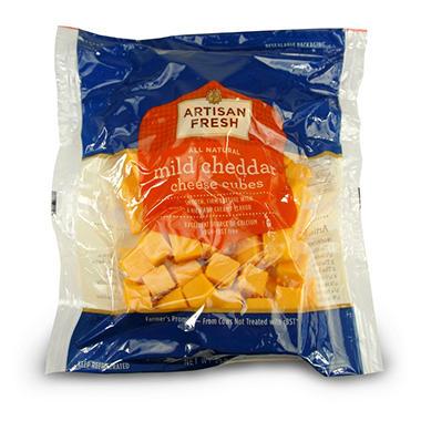 Artisan Fresh Mild Cheddar Cheese Cubes - 2 lbs.