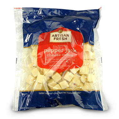 Artisan Fresh Pepper Jack Cheese Cubes - 2 lbs.