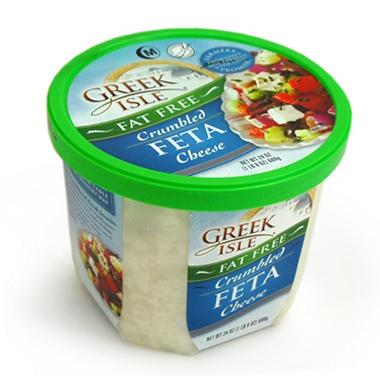 Greek Isle Crumbled Fat Free Feta Cheese Cup - 24 oz.