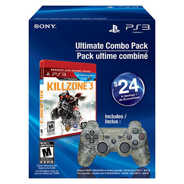 PS3 - Urban Camo DualShock 3, and Killzone 3 - Bundle