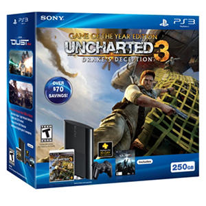 PS3 250GB Uncharted 3 Console Bundle