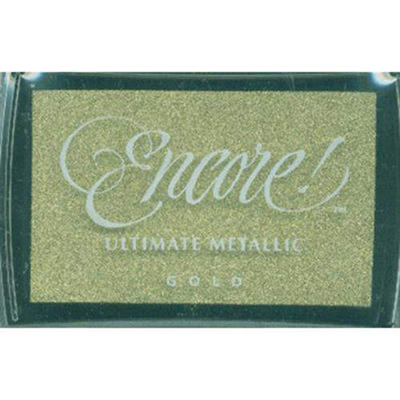 Encore Ultimate Metallic Inkpad-Gold