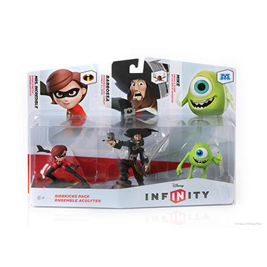 Disney Infinity Figure 3 Pack - Sidekicks (Mike/Capt Barbossa/Mrs Incredible)