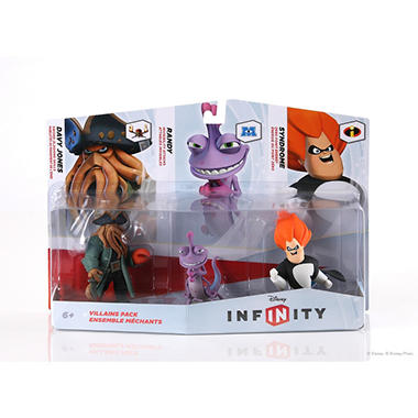 Disney Infinity Figure 3 Pack - Villians (Davy Jones/Randy/Syndrome)