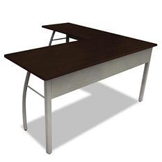 "Linea Italia Trento Line  59"" L-Shaped Desk, Mocha"