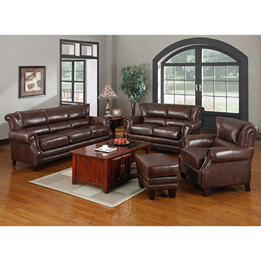 Dwight Top Grain Leather Collection 4 Pc Sam 39 S Club