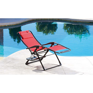 Oversized anti gravity suspension lounger red sam 39 s club for Anti gravity suspension chaise lounge