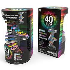 Write Dudes Helix Fashion Gel Pens, Assorted Colors, 40ct.
