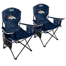 NFL Denver Broncos Cooler Quad Chair 2-Pack