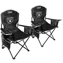 NFL Oakland Raiders Cooler Quad Chair 2-Pack