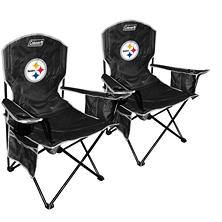 NFL Pittsburgh Steelers Cooler Quad Chair 2-Pack