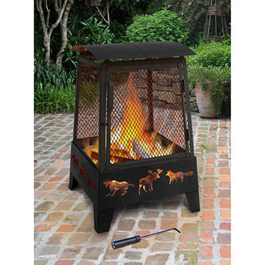 Haywood Fireplace, Wildlife - Black