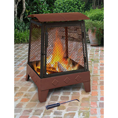 Haywood Fireplace - Georgia Clay