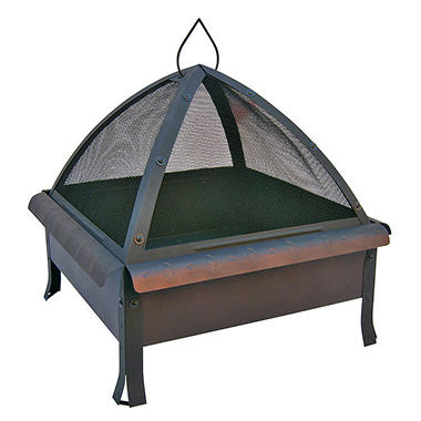 "24"" Tudor Firepit w/ Cover - Speckled Bronze"