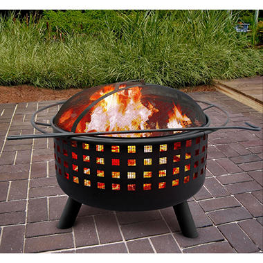 City Lights Memphis Fire Pit - Black