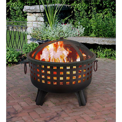 Garden Lights Black Firepit - Choose Your Style