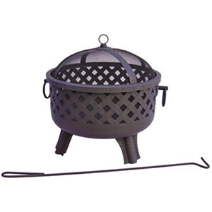 Garden Lights Black Firepit - Choose Your Style