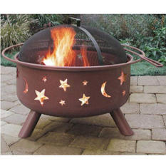 Big Sky Fire Pit with Stars & Moons - Choose Your Color