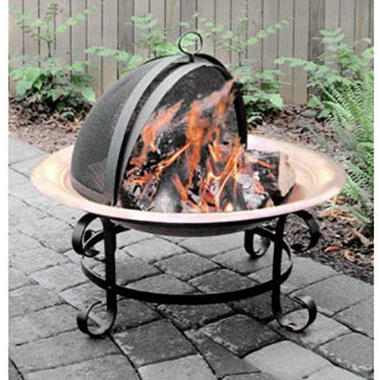 Scroll Copper Fire Pit - 30""