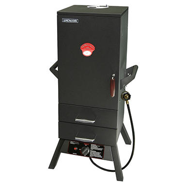 "34"" Two Drawer Heat Saving Vertical Gas Smoker"