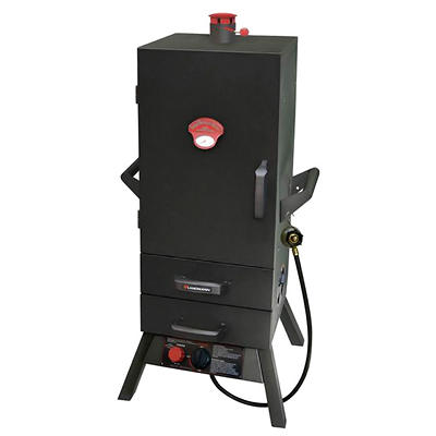 "34"" Smoky Mountain Vertical 2-Drawer Gas Smoker"