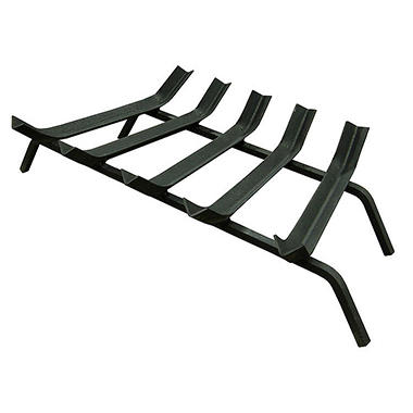 "27"" Wide Bar 1/2"" Steel V-Bar Fireplace Grate"